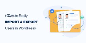 WordPress用户数据导入和导出图文教程缩略图