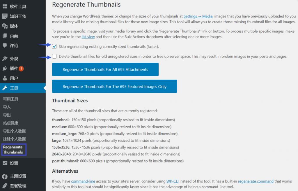 如何使用插件和WP-CLI重新生成WordPress缩略图插图6