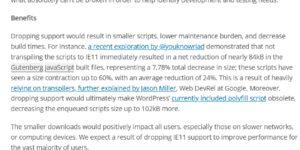 WordPress欲放弃兼容IE 11浏览器 使用率低于1%