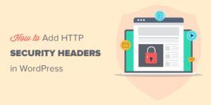 如何添加WordPress网站HTTP平安标头缩略图